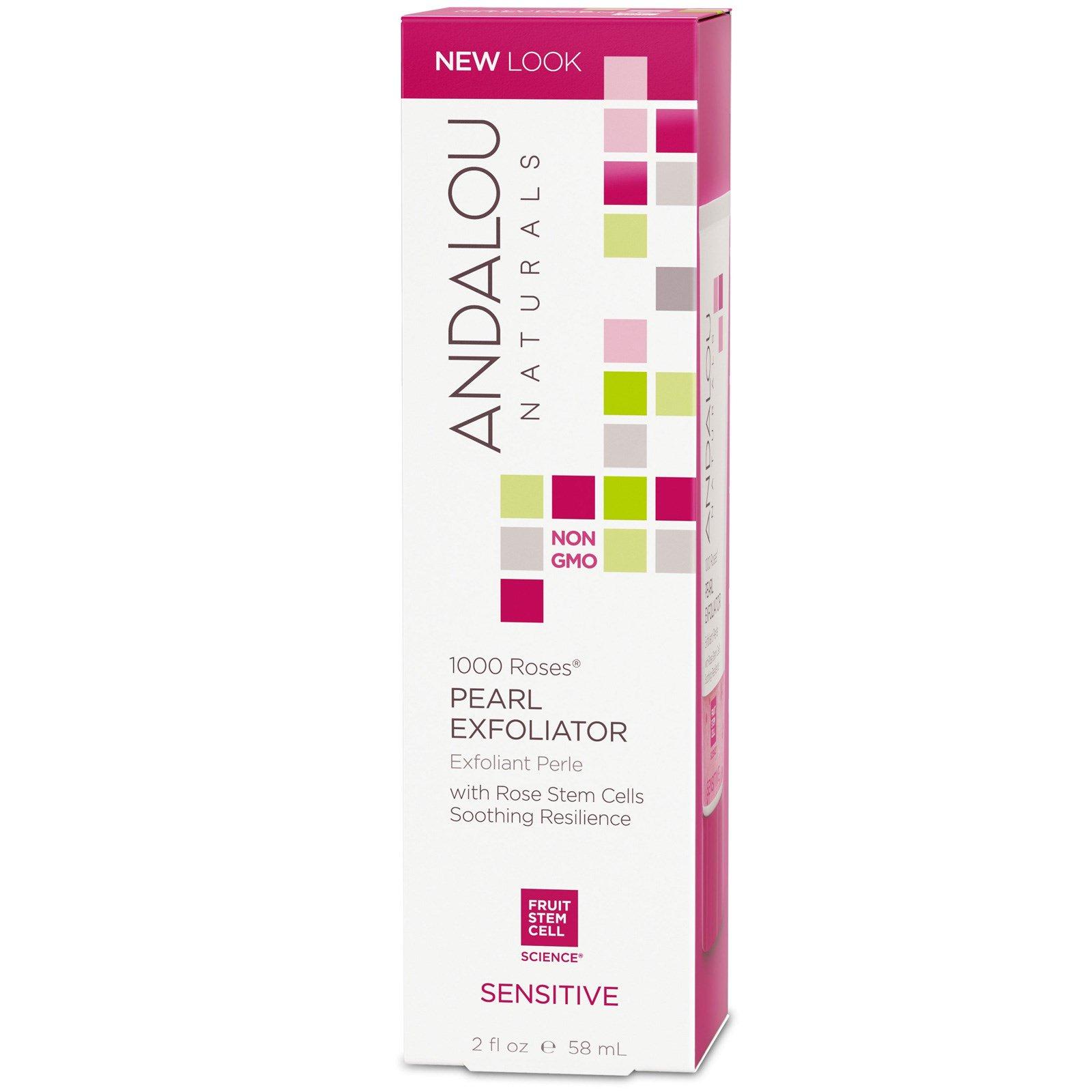Andalou Naturals, Пиллинг Pearl, для чувствительной кожи, 1000 роз, 2 жид.унц. (58 мл.)