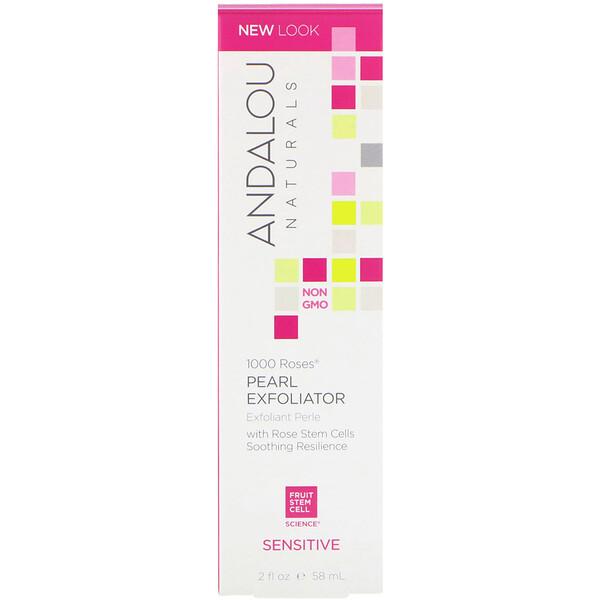 Pearl Exfoliator, Sensitive, 1000 Roses, 2 fl oz (58 ml)