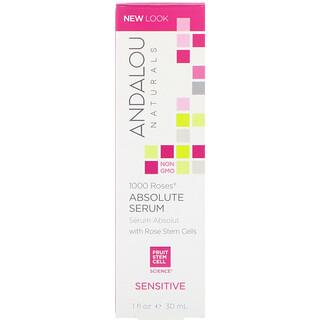 Andalou Naturals, 1000 Roses Absolute Serum, Sensitive, 1 fl oz (30 ml)