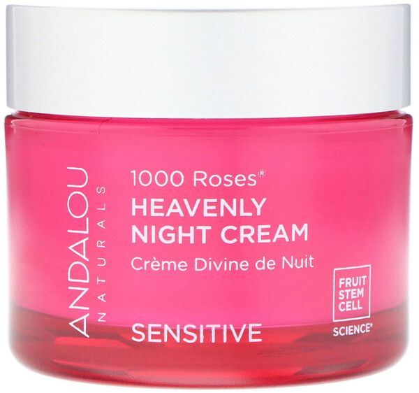 Andalou Naturals, 1000 Roses, Heavenly Night Cream, Sensitive, 1.7 fl oz (50 ml)