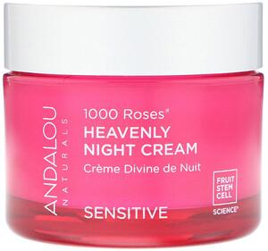 Андалу Натуралс, 1000 Roses, Heavenly Night Cream, Sensitive, 1.7 fl oz (50 ml) отзывы покупателей