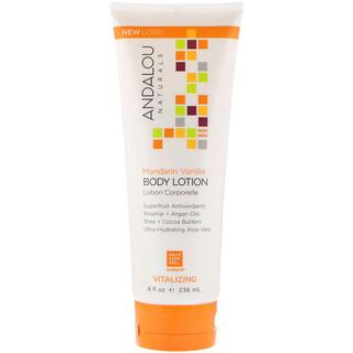 Andalou Naturals, Body Lotion, Vitalizing, Mandarin Vanilla, 8 fl oz (236 ml)