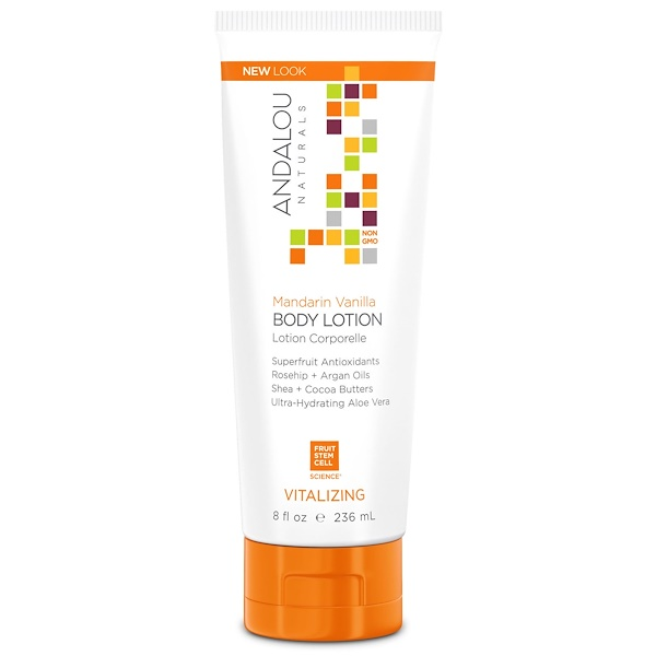 Andalou Naturals, Body Lotion, Vitalizing, Mandarin Vanilla, 8 fl oz (236 ml)