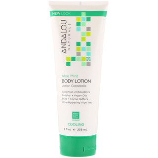 Andalou Naturals, Body Lotion, Cooling, Aloe Mint, 8 fl oz (236 ml)