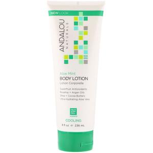 Андалу Натуралс, Body Lotion, Cooling, Aloe Mint, 8 fl oz (236 ml) отзывы