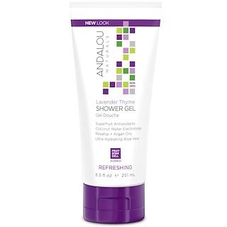 Andalou Naturals, Shower Gel, Refreshing, Lavender Thyme, 8.5 fl oz (251 ml)