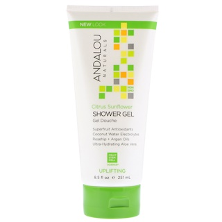 Andalou Naturals, Shower Gel, Citrus Sunflower, Uplifting, 8.5 fl oz (251 ml)