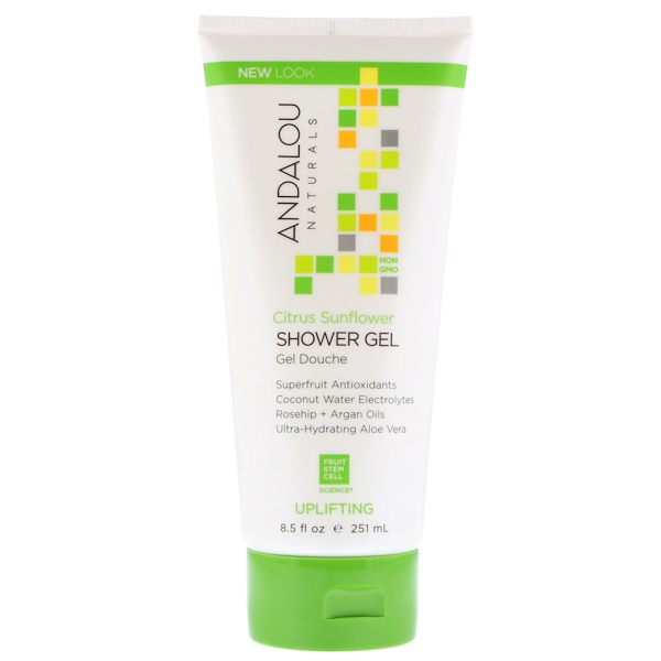 Andalou Naturals, Shower Gel, Citrus Sunflower, Uplifting, 8、5 fl oz (251 ml)