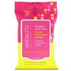 Andalou Naturals, Для чувствительной кожи, мицеллярные одноразовые чистящие салфетки для лица, 12 предварительно увлажненных салфеток