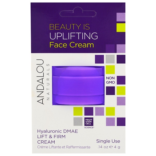 Andalou Naturals, Lift & Firm Cream, Hyaluronic DMAE, Single Use, .14 oz (4 g) (Discontinued Item)