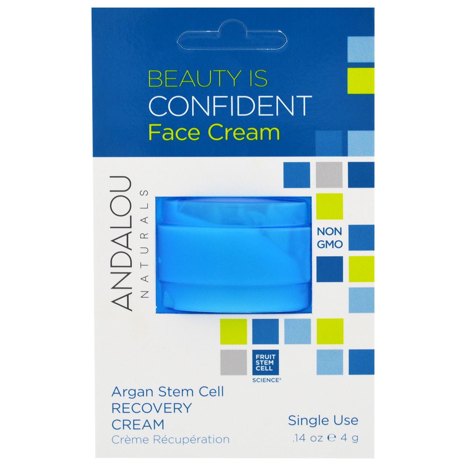 Andalou Naturals, Стволовые клетки арганы, восстанавливающий крем, на одно применение, 0,14 унции (4 г)