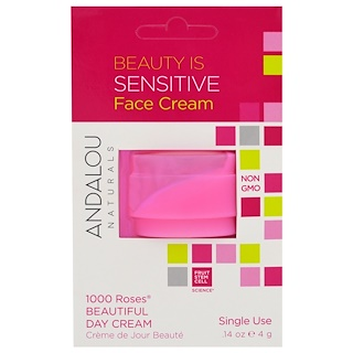 Andalou Naturals, 1000 Roses Beautiful Day Cream, Single Use, .14 oz (4 g)