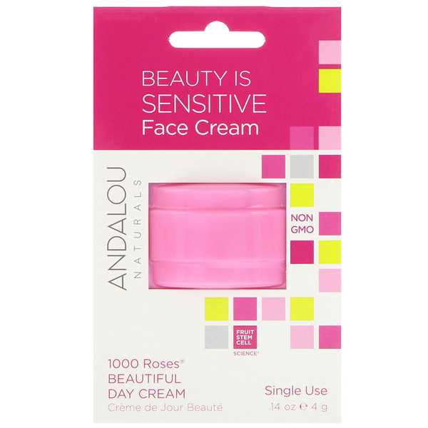 Andalou Naturals, 1000 Roses Beautiful Day Cream, Single Use, .14 oz (4 g) (Discontinued Item)