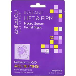 Андалу Натуралс, Instant Lift & Firm, Hydro Serum Facial Mask, Age Defying, 1 Single Use Fiber Sheet Mask, .6 fl oz (18 ml) отзывы