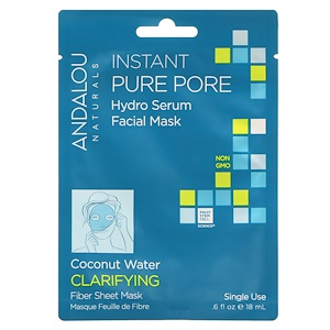 Андалу Натуралс, Instant Pure Pore, Hydro Serum Facial Mask, 1 Single Use Fiber Sheet Mask, .6 fl oz (18 ml ) отзывы