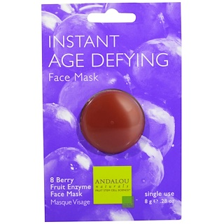 Andalou Naturals, Instant Age Defying、8 Berry Fruit Enzyme Face Mask、28 oz (8 g)