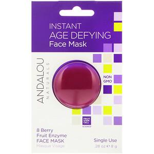 Андалу Натуралс, Instant Age Defying, 8 Berry Fruit Enzyme Face Mask, .28 oz (8 g) отзывы