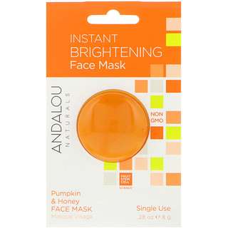 Andalou Naturals, Instant Brightening Face Mask, Pumpkin and Honey, .28 oz (8 g)