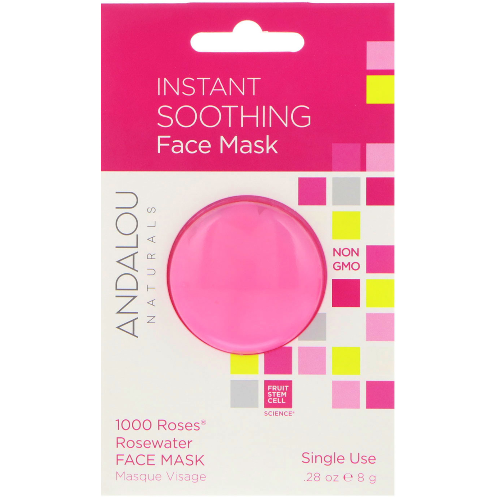 6 Pack - Andalou Naturals 1000 Roses Rosewater Mask 1.7 oz Christie Brinkley Closeup Instant Wrinkle Reducer and Treatment, 0.33 fl oz