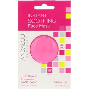 Андалу Натуралс, Instant Soothing, 1000 Roses Rosewater Face Mask, .28 oz (8 g) отзывы покупателей
