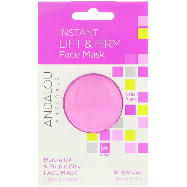 Instant Lift & Firm, Marula Oil & Purple Clay Face Mask, .28 oz (8 g)