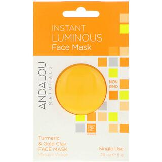 Andalou Naturals, Instant Luminous, Masque au Curcuma et à l'Argile doré 8 g