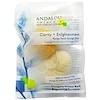 Andalou Naturals, Clarity + Enlightenment, Konjac Facial Sponge Duo, 2 Pack