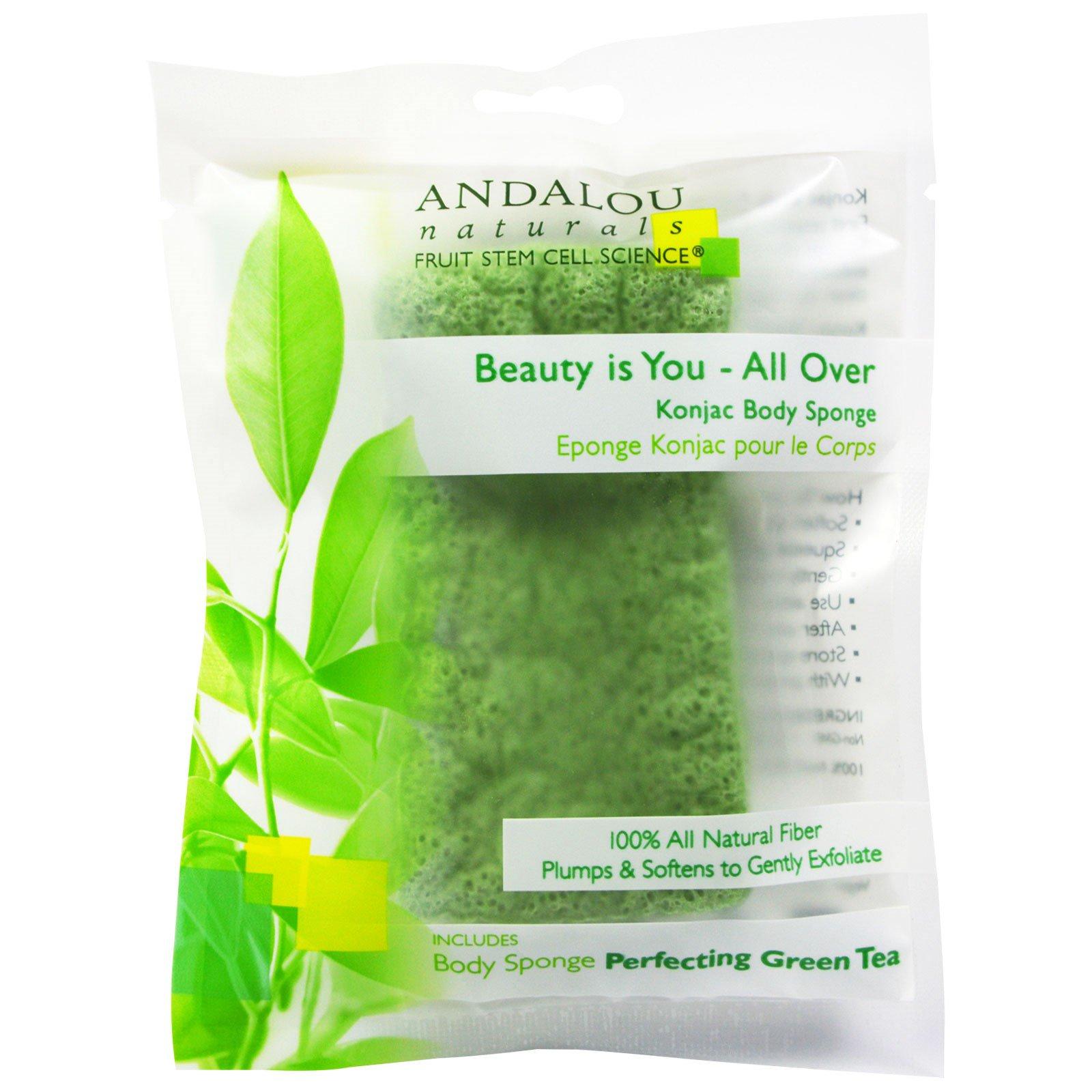 Andalou Naturals, All-Over Konjac Body Sponge, 1 ct