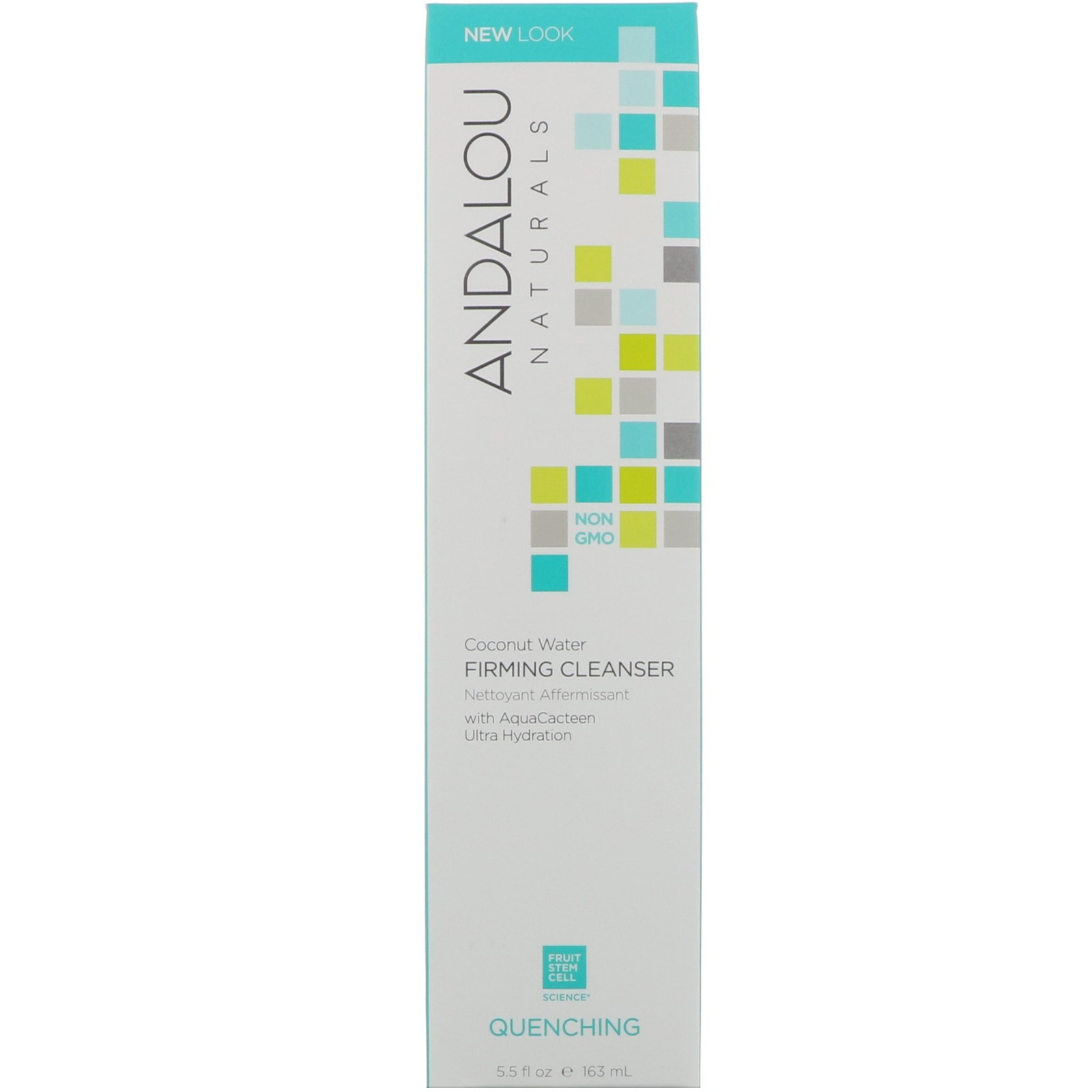 Coconut Water Firming Facial Cleanser - 5.5 fl. oz. by Andalou Naturals (pack of 1) Cetaphil Deep Cleansing Bar, Body And Face, All Skin Types, 4.5 Oz , 3 Pack