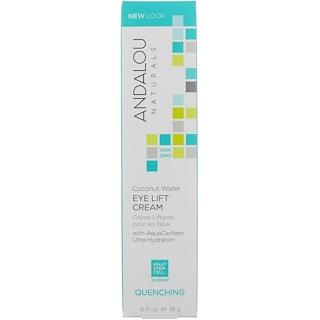 Andalou Naturals, Coconut Water Eye Lift Cream, Quenching, 0.60 fl oz (18 g)
