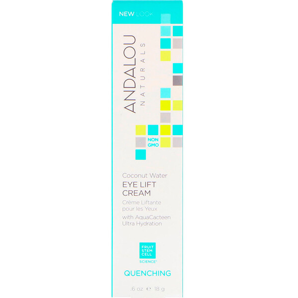Andalou Naturals, Coconut Water Eye Lift Cream, Quenching, 0.60 fl oz (18 g)