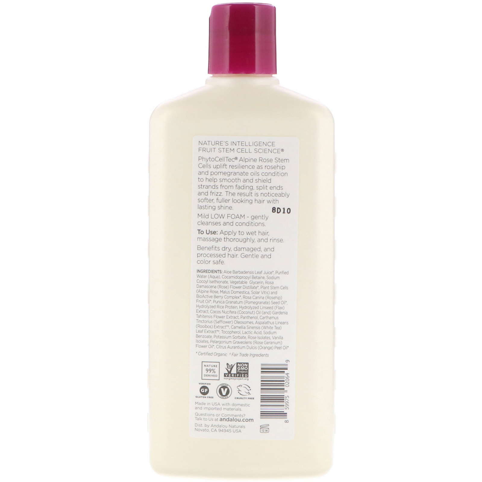 Andalou Naturals Shampoo Color Care For Infused Moisture 1000 Clear Strong Ampamp Soft 340 Ml Click To Zoom