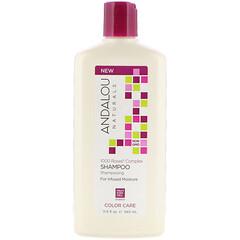 Andalou Naturals, 洗髮水,顏色護理,保濕,1000 朵玫瑰複合物,11.5 液量盎司(340 毫升)