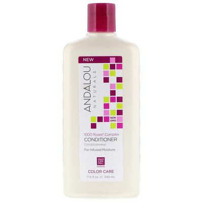 Купить Andalou Naturals Кондиционер, уход за окрашенными волосами, увлажнение, комплекс 1000 роз, 340 мл (11, 5 унций)