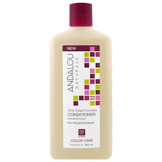 Andalou Naturals, Conditioner, Color Care, For Infused Moisture,1000 Roses Complex, 11.5 fl oz (340 ml)