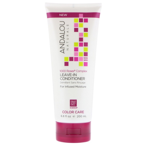 Andalou Naturals, 1000 Roses Complex, Color Care, Leave-In Conditioner , 6.8 fl oz (200 ml) (Discontinued Item)
