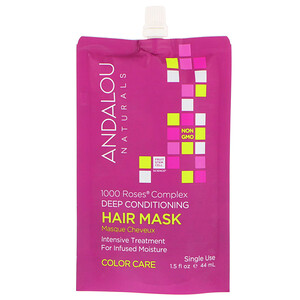 Андалу Натуралс, 1000 Roses Complex Deep Conditioning, Color Care, Hair Mask, 1.5 fl oz (44 ml) отзывы покупателей