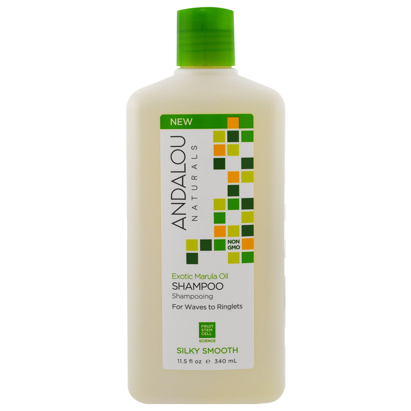 Andalou Naturals Shampoo Silky Smooth For Waves To Ringlets Clear Shampo Csoft Care 340ml Exotic Marula Oil