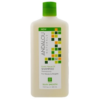 Andalou Naturals, Shampoo, Silky Smooth, For Waves to Ringlets, Exotic Marula Oil, 11.5 fl oz (340 ml)