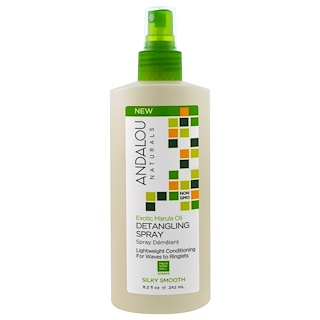 Andalou Naturals, Exotic Marula Oil, Silky Smooth Detangling Spray, 8.2 fl oz (242 ml)