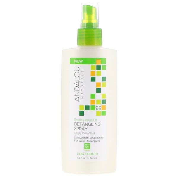 Andalou Naturals, Exotic Marula Oil, Silky Smooth Detangling Spray, 8.2 fl oz (242 ml) (Discontinued Item)