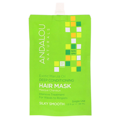 Exotic Marula Oil Silky Smooth Deep Conditioning Hair Mask, 1.5 fl oz (44 ml) carols daughter 211343 8 oz marula curl therapy moisturizing detangling milk