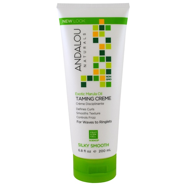 Andalou Naturals, Exotic Marula Oil, Silky Smooth Taming Crème, 6.8 fl oz (200 ml) (Discontinued Item)