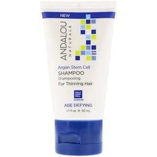 Andalou Naturals, Shampooing, anti-âge, pour cheveux clairsemés, cellules souches d'argan, 50ml (1,7oz liq.)