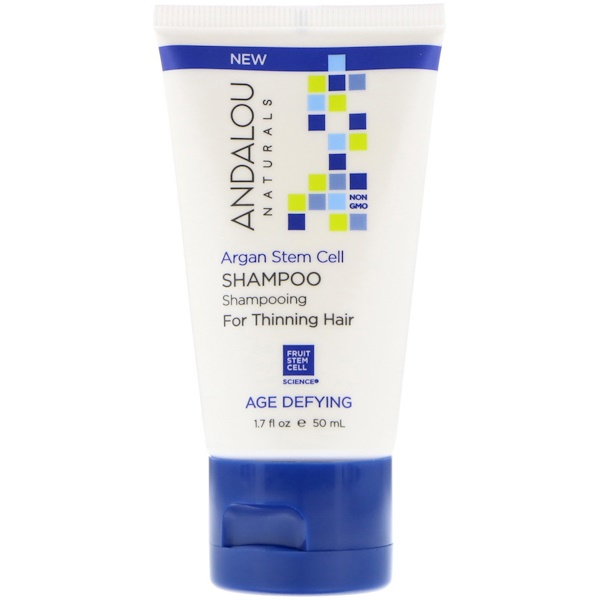 Andalou Naturals, Shampoo, Age Defying, For Thinning Hair, Argan Stem Cell, 1、7 fl oz (50 ml)