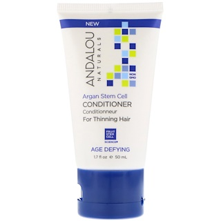Andalou Naturals, 컨디셔너, 노화 방지, 가느다란 모발을 위한, 아르간 줄기 세포, 1.7 fl oz (50 ml)