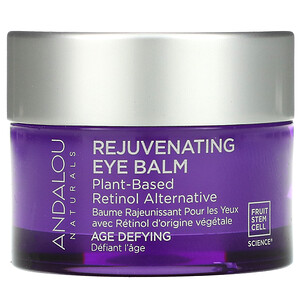 Andalou Naturals, Rejuvenating Eye Balm, Plant-Based Retinol Alternative, Age Defying, 0.45 oz (13 g)