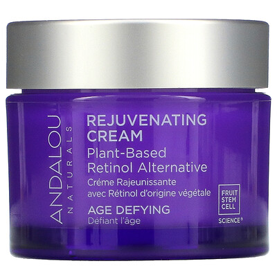 Купить Andalou Naturals Rejuvenating Cream, Plant-Based Retinol Alternative, Age Defying, 1.7 oz (50 g)