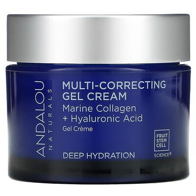 Купить Andalou Naturals Multi-Correcting Cream, Bio-Designed Collagen + Hyaluronic Acid, 1.7 fl oz (50 ml)