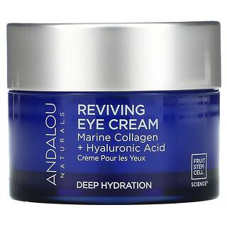 Andalou Naturals, Reviving Eye Cream, Bio-Designed Collagen + Hyaluronic Acid, 0.45 fl oz (13 ml)